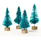 Package of 24 Miniature Christmas Sisal Forest Trees on Wooden Bases