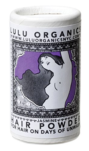 Organic Jasmine Travel/Purse Size Hair Powder/Dry Shampoo/Vegan / Cruelty Free/No Synthetic Fragrance by Lulu Organics