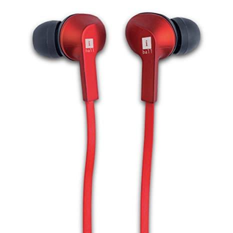 Amazon In Buy Iball Musigripper B9 Bluetooth Headphones Red Online At Low Prices In India Iball Reviews Ratings