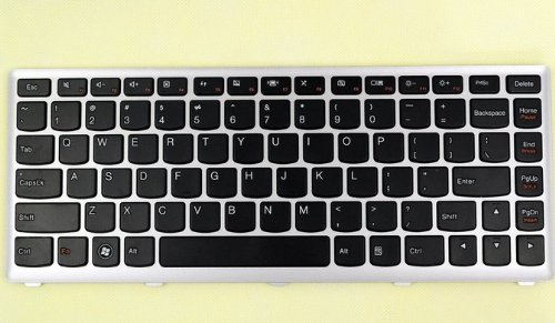 聯想u410鍵盤(黑色鍵銀色邊框)w7圖片