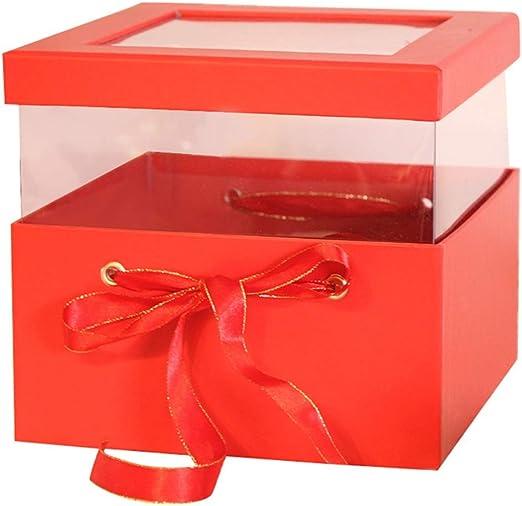 Caja de Regalo Cuadrada Transparente Sunroof Rojo Puede elevarse y ...