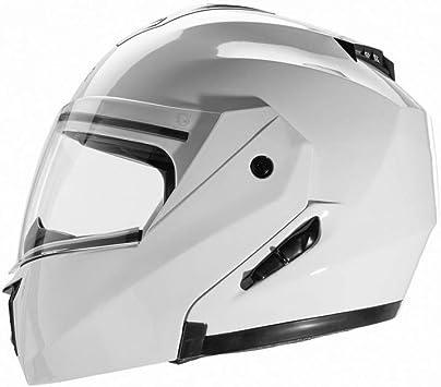 interior desmontable y lavable M negro mate visera integral Cruizer/-/Casco modular homologado de color blanco con doble visor
