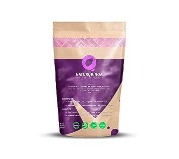 Naturquinoa | Concentrado de Quinoa en polvo Premium 100% natural | Quinoa sin gluten | Bolsa 500 gr de Quinoa, un sobre monodosis y una receta | ...