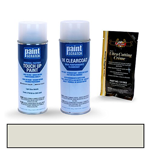 PAINTSCRATCH Light Silver Metallic LY7W/5B for 2003 Audi A4 - Touch Up Paint Spray Can Kit - Original Factory OEM Automotive Paint - Color Match Guaranteed