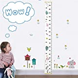 """Baby Growth Chart Handing Ruler Wall Decor for Kids, Canvas Removable Height Growth Chart 79"""" x 7.9"""" (Flamingo)"""