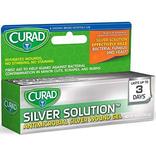 Curad Silver Solution Antimicrobial Gel 0.50 oz (Pack of 6) by Curad