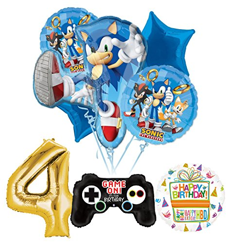 The Ultimate Sonic The Hedgehog 4th Birthday Party Supplies and Balloon Decorations