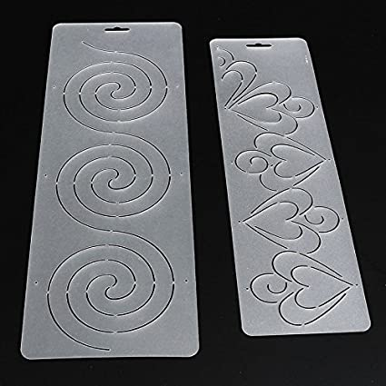 raza practical 1pcs semi transparent circle heart stencil plastic quilting template quilt tool for patchwork