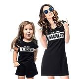 Mother Daughter Matching Dresses, Rock Star Print