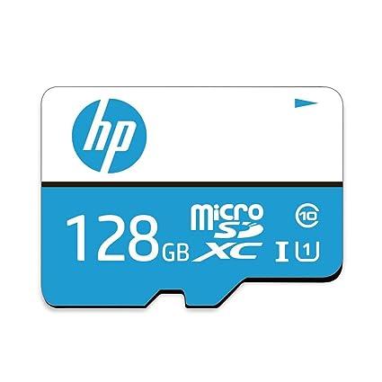 HP 128GB Class 10 MicroSD Memory Card (U1 TF Card 128GB) Micro SD Cards at amazon