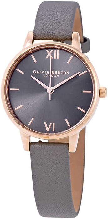 4246b3e3fa09a Amazon.com  Olivia Burton Midi Dial Grey Dial Ladies Watch OB16MD78 ...