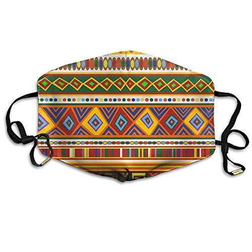 (Girdsunp Classic African Modern Colorful Pattern Design Mask Men Women Unisex Dirtproof Breathable Cool)