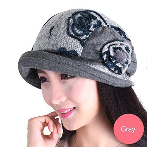 Womens Spring Autumn Beret Fashion Elegant Cap Plus Velvet Fashion Octagonal