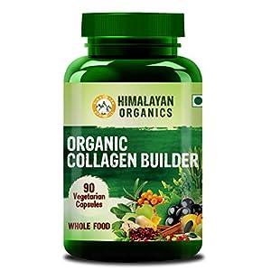 Himalayan Organics Organic Collagen Builder for Hair and Skin With Biotin & Vitamin C – 90 Veg Capsules