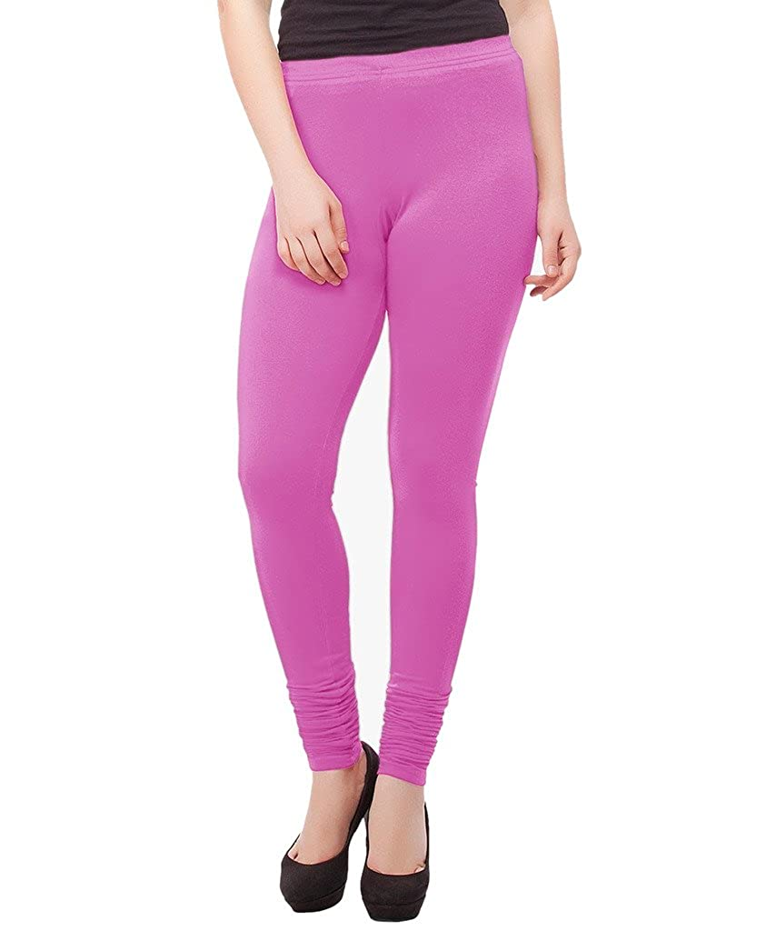 IndiWeaves Girls Premium Cotton Ankle Length Solid Leggings Pack of 6