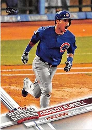 Addison Russell Baseball Card Chicago Cubs Champions 2017 Topps