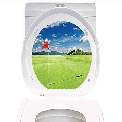 Pleasing Amazon Com Toilet Seat Sticker Sports Decor Golf Field With Evergreenethics Interior Chair Design Evergreenethicsorg