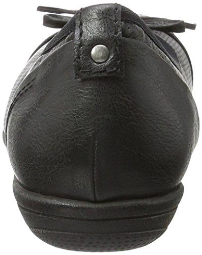 Softline 22168, Bailarinas para Mujer Negro (Black Comb. 098)