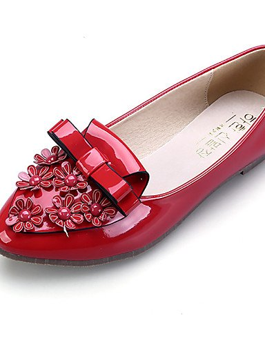 PDX/Damen Schuhe flach Ferse Ballerina/spitz/geschlossen Zehen Wohnungen Kleid Schwarz/mandel, - black-us7.5 / eu38 / uk5.5 / cn38 - Größe: One Size