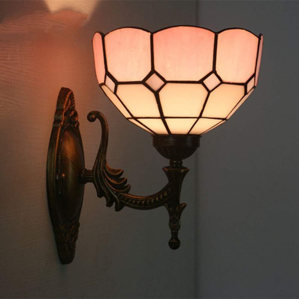 Wdacczq Wandleuchte Kristall Wandleuchte Retro Wandleuchte Garten Lampe Glas + Schmiedeeisen E27 5 Watt Kunst Dekoration Dekoration Garten Balkon Wandleuchte 9