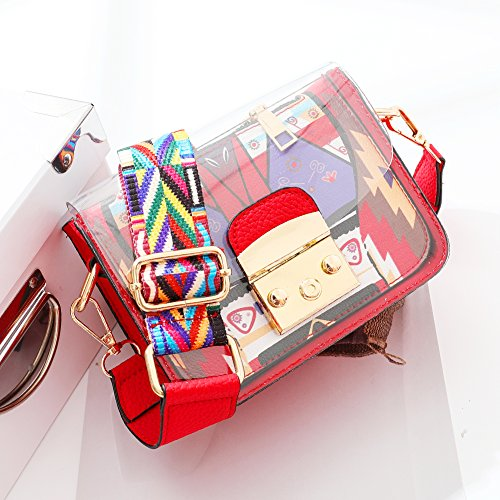 Rouge Sacs Messenger en Sac Fourniture Sac pour Organisateur a bandouliere Noir Transparent D'été Transparent Surenhap Bonbons PVC Main Sac Imperméable à Plage 1WU4vnnpx