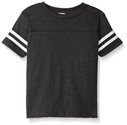 - Clementine Kids Toddler Football Fine Jersey T-Shirt, VN Smoke/BD WHT, 2T