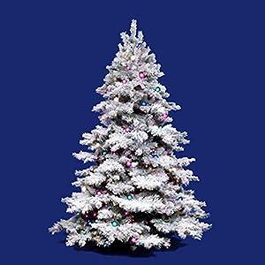 Vickerman Flocked Alaskan Unlit Christmas Tree 52