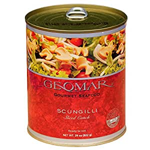 Chilean Gourmet Seafood, Scungilli (Sliced Conch), 29 Ounces (12 pack)