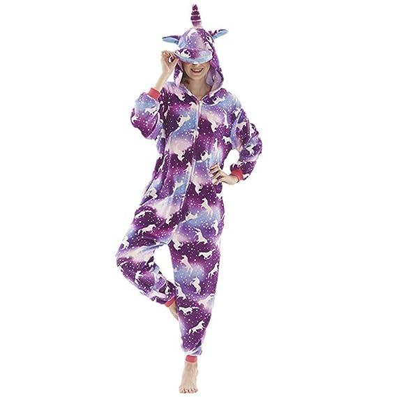 OLLOLCCY Unicornio Cosplay Halloween Y Navidad Pijama Animale ...