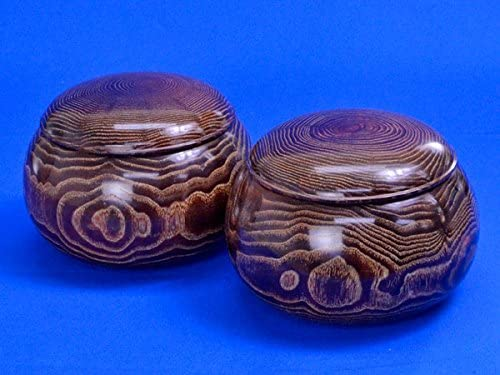木製碁笥 栗 超々特大 ※将碁屋ミニ椿油付き