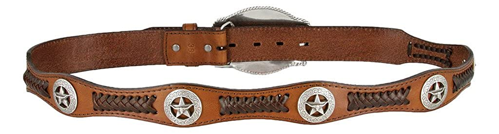 State of Texas Longhorn and Star Western Embossed Leather Belt