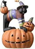 Williraye Sweater Cat on Jack O Lantern Figurines