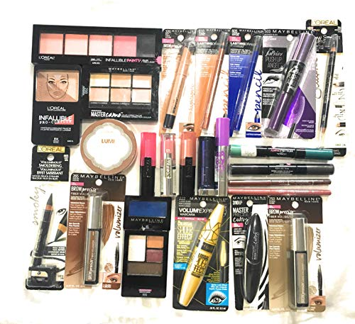 25 Assorted Piece Lot of Name Brand Makeup Wholesale, No Dups