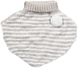 Barefoot Dreams CozyChic Toddler Poncho, Stone/White, Size 4T-5T