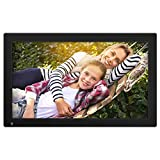 NIXPLAY Original WiFi Digital Photo Frame 18 inch W18A. Show Pictures on Your Frame Via Mobile App, Email or USB. Smart Electronic Frame with Motion Sensor. Remote Control Included
