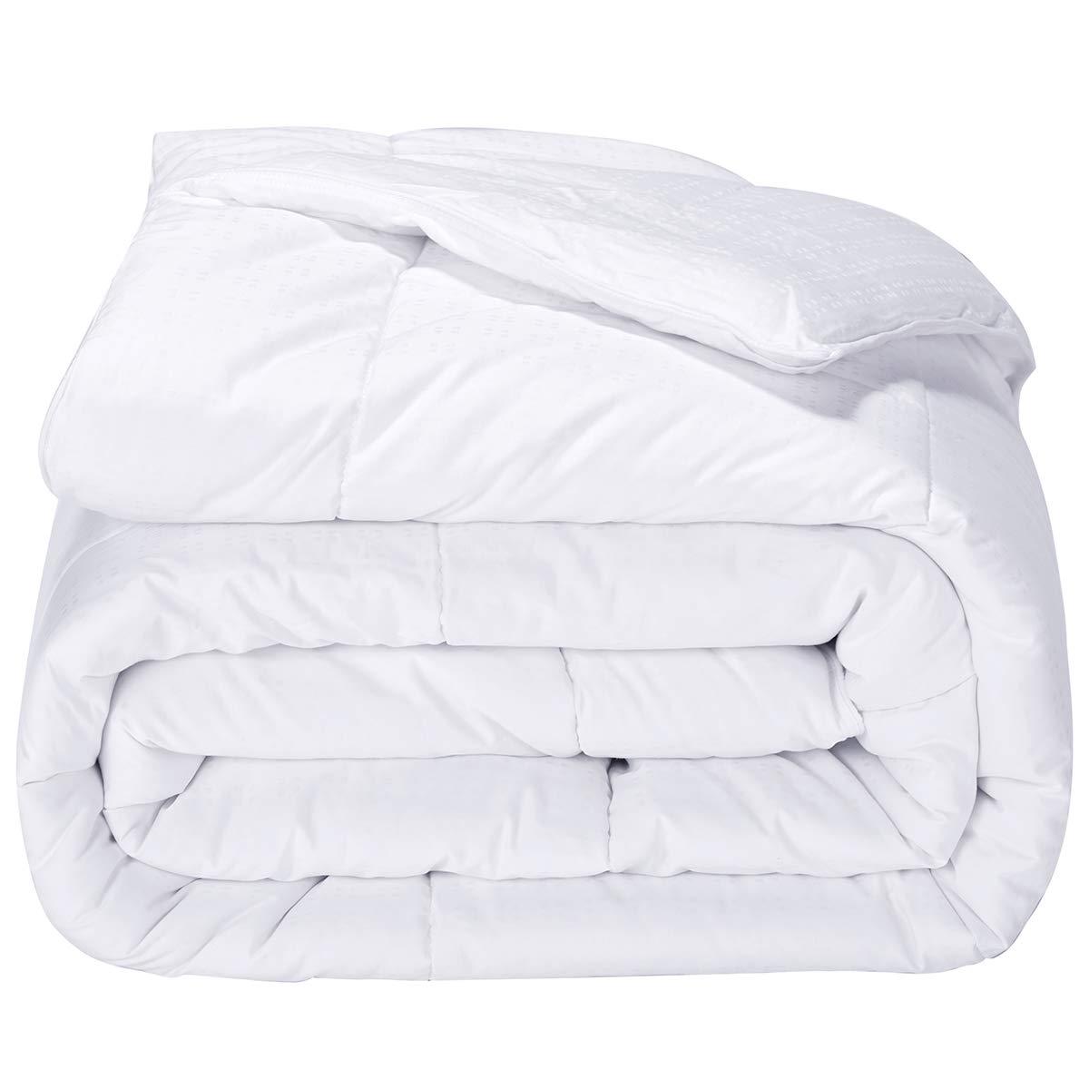 Puredown Alternative Comforter White Duvet Insert XL Cotton Shell 300TC, Twin/Twin X-Large PD-AC15009-T