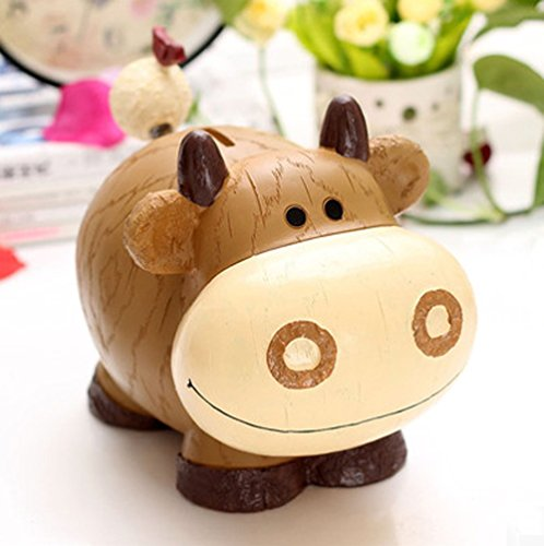 Creative Cartoon Cow Piggy Bank Safe Money Box Saving Bank Storage box (Cow Money Box)
