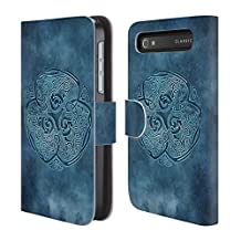 Official Brigid Ashwood Knot Wolf Celtic Wisdom Leather Book Wallet Case Cover For BlackBerry Leap