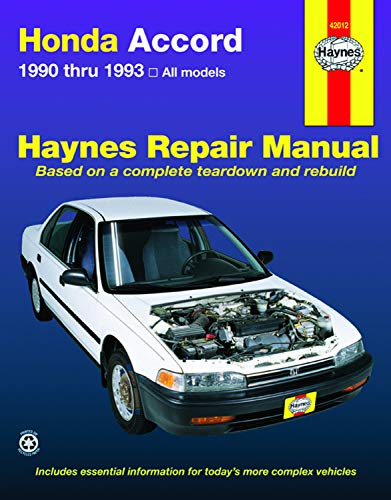 1993 honda accord owners manual - 1