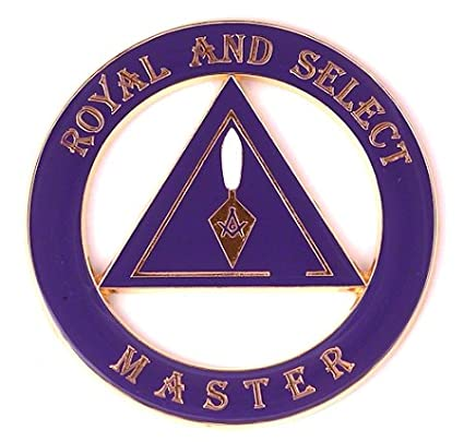 Royal & Select Master Round Purple Masonic Auto Emblem - 3