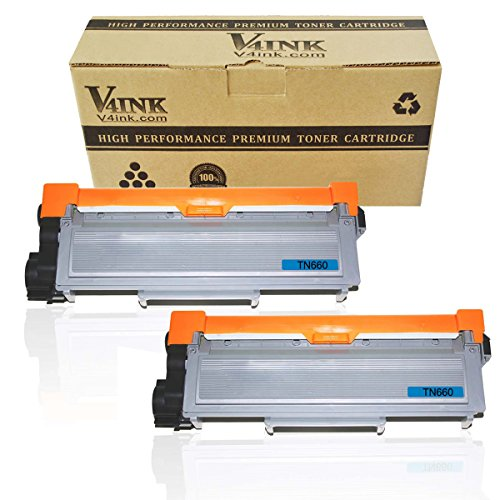 V4INK ® 2-Pack New Compatible Brother TN630 TN660 Toner Cartridge Black for Brother DCP-L2520DW DCP-L2540DW HL-L2300D HL-L2320D HL-L2340DW HL-L2360DW HL-L2380DW MFC-L2700DW MFC-L2720DW MFC-L2740DW Printer