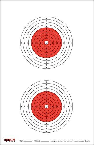 EZ2C Targets Style 16 Scoring 50 Meter Air Gun Target (25 Pack)