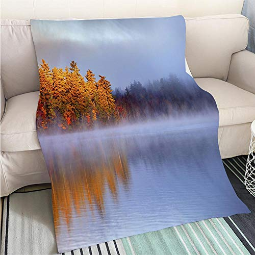 Breathable Flannel Warm Weighted Blanket Autumn Light in The White Mountains of New Hampshire Perfect for Couch Sofa or Bed Cool Quilt