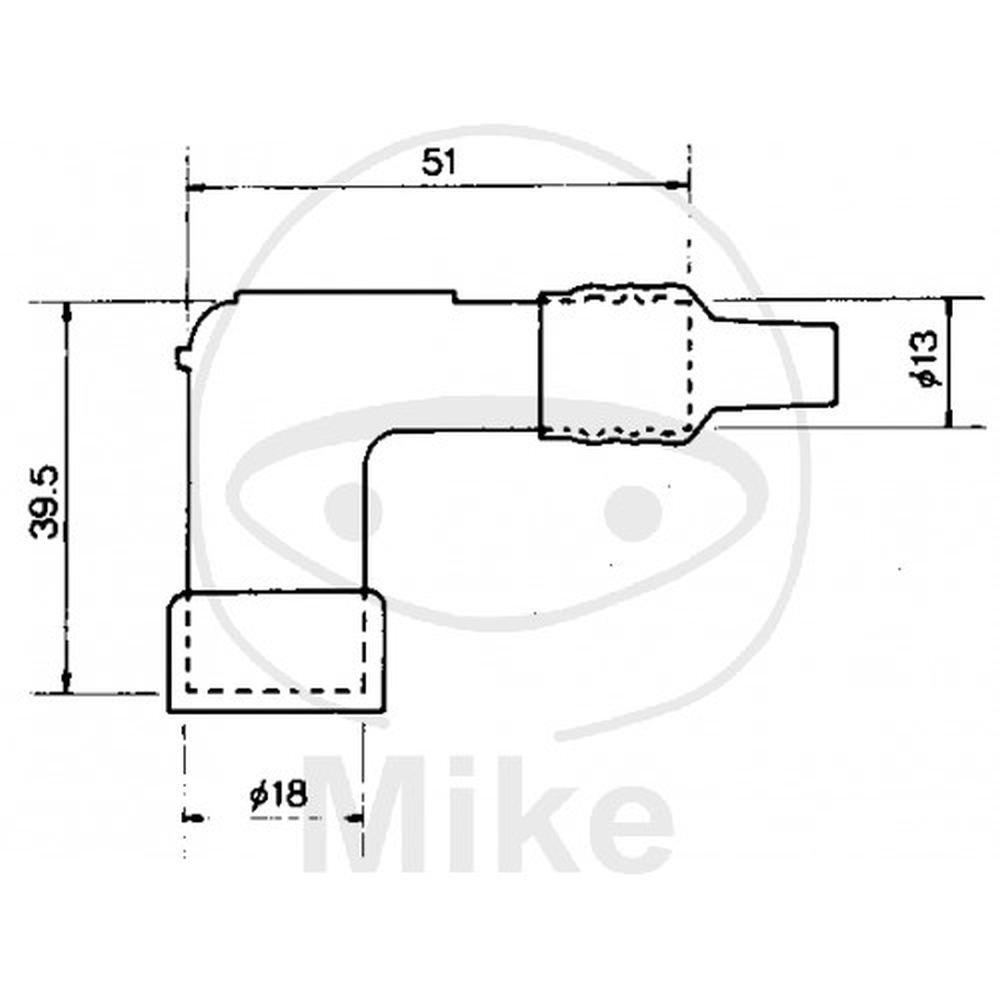 NGK LD05F Connecteur de bougie d/'allumage rouge C1