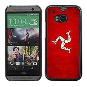 Shell-Star ( National Flag Series-Isle of Man ) Snap On Hard Protective Case For All New HTC One (M8)