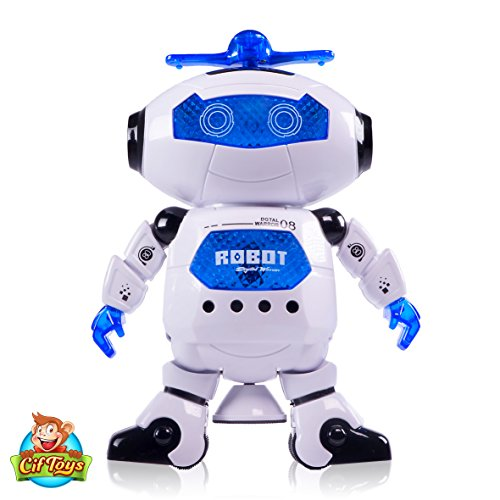 CifToys Electronic Dancing Robot Toy For Kids, Boys & Girls | Flashing Lights, 360° Body Spinning | Have Fun, Develop Fine Motor Skills & Boost Hand To Eye Coordination (Trademark Protected)