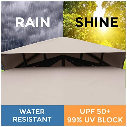 Garden and Outdoor AsterOutdoor 10×10 Outdoor Gazebo for Patios Canopy for Shade and Rain with Corner Shelves, Soft Top Metal Frame for… pergolas