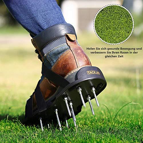 gesünderen Schuhe Riemen 30cm mit Rasenlüfter Metallschnallen Größe Nagelschuhe GAS1A 4 TACKLIFE universelle Sohlen für 5cm 5 Einstellbare Lange Rasen Riemen Nägel Rasenbelüfter Lange 4 BwwIqd