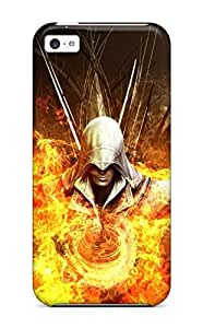 CagleRaymondy Scratch-free Phone Case For Iphone 5c- Retail Packaging - Assassins Creed 2 Fire Abstract