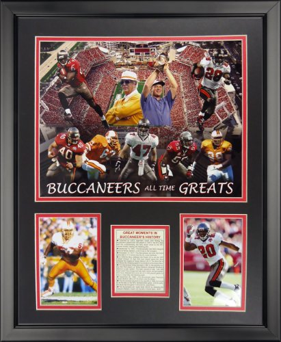 (Legends Never Die NFL Tampa Bay Buccaneers Greats Framed Photo Collage, 18